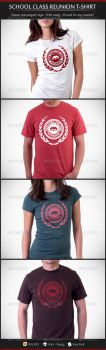 School Class Re-Union T-Shirt Template by madebygb