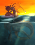 Evening Swim by drawitout