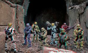 Halo Ranger Squad Analgyph by Geosammy