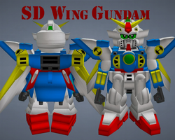 SD Wing Gundam by lordvipes