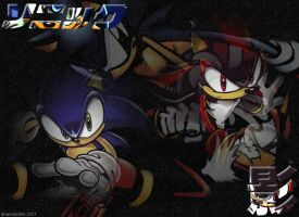 Sonic And Shadow by Superstrider