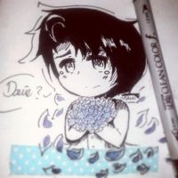 Inktober 02: Forget-me-not . by usann