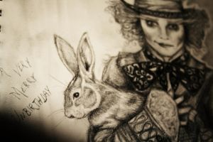 The Hatter and the Hare by cayligraham