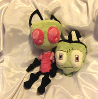 Zim's Human Disguise plush head by VengefulSpirits