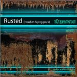 Rusted Brushes and png pack by M10tje