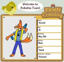 PKMN crossing app - Donald by KibaTheFloatzel