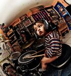 baby plaing the drums by ahavaboo