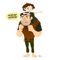 Bran Stark and Hodor by TheSketchBoy