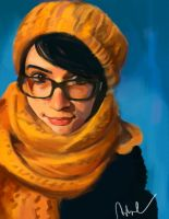 Portrait in yellow by Namecchan