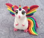 Rainbow Hamicorn by DragonsAndBeasties
