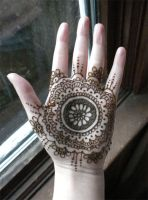 Henna Hand Holiday Mandala by flowerwills