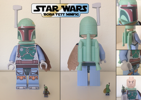STAR WARS: Boba Fett Lego Minifigure by JouzuMania