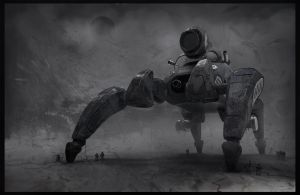 Military mech/drone DC-200 by LMorse