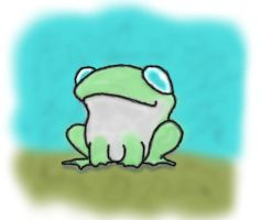 cute frog by materz23