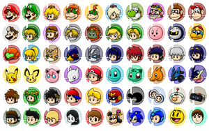 Super Smash Bros Series Characters by SuperLakitu