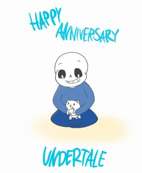 Happy Anniversary Undertale! by ChaoticJukebox