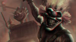Evil Clown 3-D conversion by MVRamsey