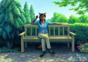 Park Bench by Dahtamnay