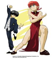 Ranma vs Ranchan by chou-roninx