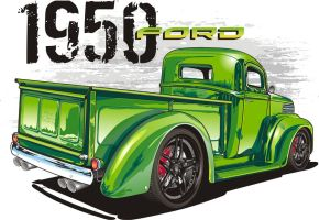 1950 ford truck by mobleyart