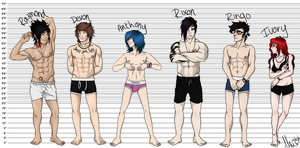 OC Height Chart by loriLUNACY