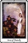 Tarot- Seven of Pentacles by azurylipfe