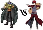 Crocodile vs. Gaara by Imhungry4444