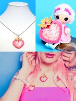 Sailor Moon Necklace and Brooch Moon Crisis by LilithScream