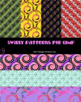 Swirly Patterns for GIMP by kelzygrl