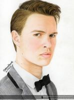 Ansel Elgort - Colour Pencils by FabianaAzevedo