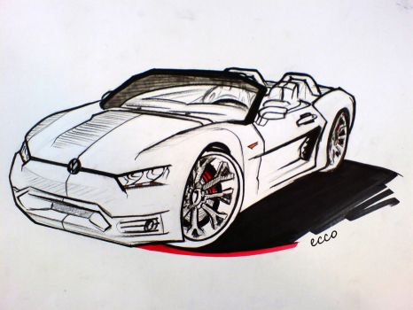 VW Roadster Convertible by ecco666