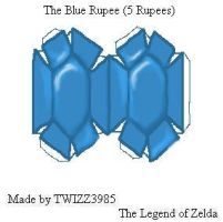 Blue Rupee Papercraft by Twizz3985
