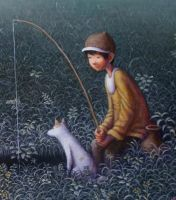 detail of Fishing by perodog