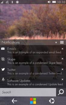 Win10 - Small Devices - Notification Center by TechInterest