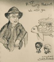 Terry Pratchett Tribute by ravenviolet777