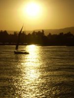 Sunset on the Nile by Pamguy