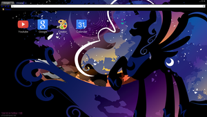 Luna Silhouette Chrome theme (White Tab text) by Daring-Dash-Hoof