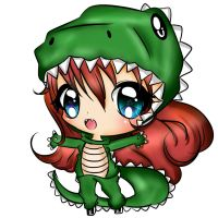 king melissa dino chibi (blue eyes) by EndlessBlueSky