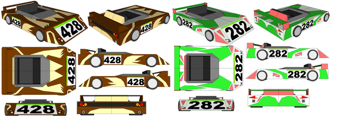 SketchUp - Lopunny's Car and Gardevoir's Car by TeamFaustGames