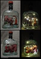 Pickles and Octopus Rum Lamp by pirateking42