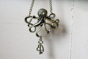 Love's Secret Octopus Necklace by MonsterBrandCrafts