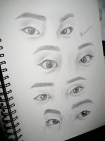 Xiumin's eyes by ClineSan