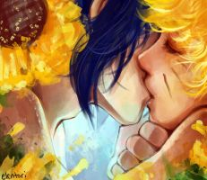 Sunflower Kiss by Elentori