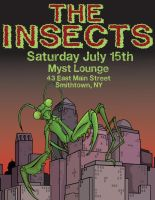 The Insects gig poster by petex
