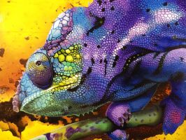 Harmonious Chameleon (Close up 1) by Cookiee1991