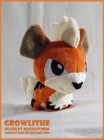 Growlithe chibi pokedoll by MagnaStorm