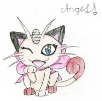 Angel the Meowth by BlueBRogue