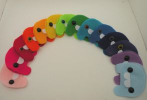 Rainbow of Lumps- RESERVE ONE by loveandasandwich
