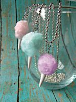 Cotton candy necklaces 2 by kawaiibuddies