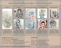 COMMISSIONS OPEN by constantlyBuzzing